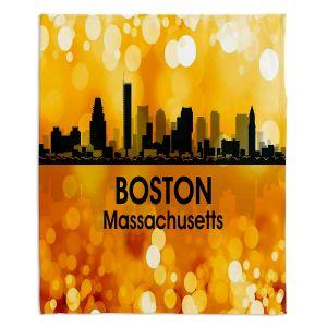 Decorative Fleece Throw Blankets | Angelina Vick - City lll Boston Massachusetts