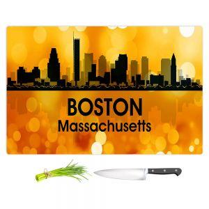Artistic Kitchen Bar Cutting Boards | Angelina Vick - City lll Boston Massachusetts