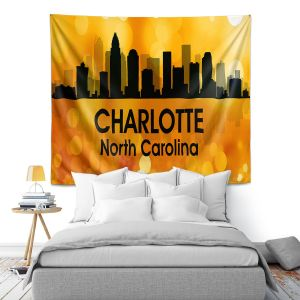Artistic Wall Tapestry | Angelina Vick - City lll Charlotte North Carolina