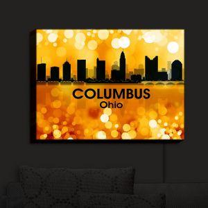 Nightlight Sconce Canvas Light | Angelina Vick - City III Columbus Ohio | Skyline Downtown