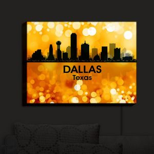 Nightlight Sconce Canvas Light | Angelina Vick - City III Dallas Texas | Skyline Downtown