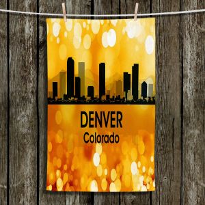 Unique Hanging Tea Towels | Angelina Vick - City lll Denver Colorado | Skyline Downtown