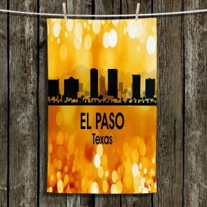 Unique Hanging Tea Towels | Angelina Vick - City lll El Paso Texas | Skyline Downtown