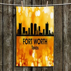 Unique Hanging Tea Towels | Angelina Vick - City lll Fort Worth Texas | Skyline Downtown