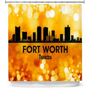 Premium Shower Curtains | Angelina Vick - City lll Fort Worth Texas