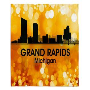 Decorative Fleece Throw Blankets | Angelina Vick - City lll Grand Rapids Michigan