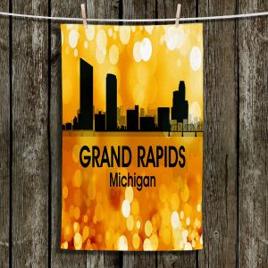 Unique Hanging Tea Towels | Angelina Vick - City lll Grand Rapids Michigan | Skyline Downtown