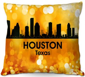 Decorative Outdoor Patio Pillow Cushion | Angelina Vick - City lll Houston Texas