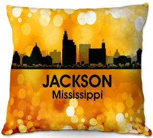 Throw Pillows Decorative Artistic   Angelina Vick - City lll Jackson Mississippi