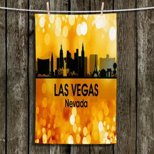 Unique Hanging Tea Towels | Angelina Vick - City lll Los Angeles California | Skyline Downtown