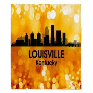 Decorative Fleece Throw Blankets | Angelina Vick - City lll Louisville Kentucky