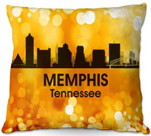 Throw Pillows Decorative Artistic | Angelina Vick - City lll Memphis Tennessee