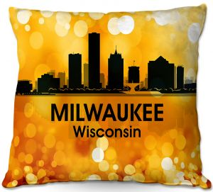 Decorative Outdoor Patio Pillow Cushion | Angelina Vick - City lll Milwaukee Wisconsin