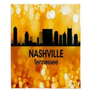Decorative Fleece Throw Blankets | Angelina Vick - City lll Nashville Tennessee