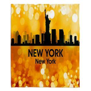 Decorative Fleece Throw Blankets | Angelina Vick - City lll New York New York