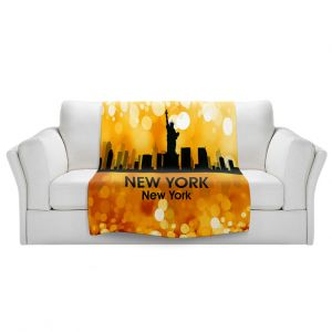 Artistic Sherpa Pile Blankets | Angelina Vick - City lll New York New York