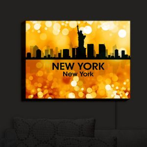 Nightlight Sconce Canvas Light | Angelina Vick - City III New York New York | Skyline Downtown