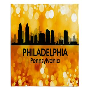 Decorative Fleece Throw Blankets | Angelina Vick - City lll Philadelphia Pennsylvania