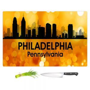 Artistic Kitchen Bar Cutting Boards | Angelina Vick - City lll Philadelphia Pennsylvania