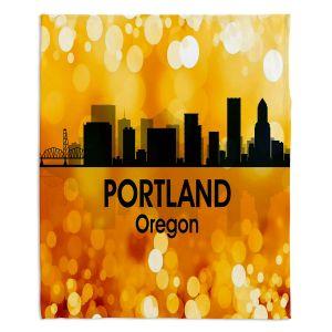 Decorative Fleece Throw Blankets | Angelina Vick - City lll Portland Oregon