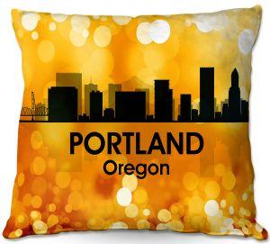 Throw Pillows Decorative Artistic   Angelina Vick - City lll Portland Oregon