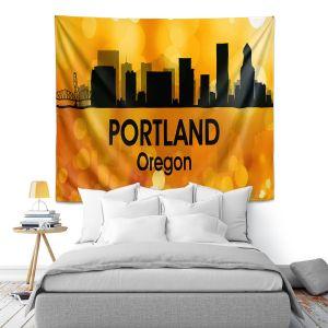 Artistic Wall Tapestry | Angelina Vick - City lll Portland Oregon