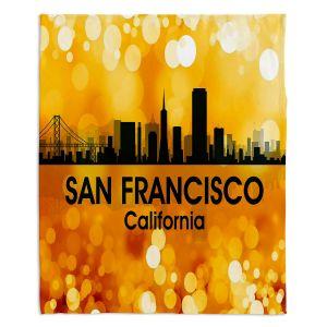 Decorative Fleece Throw Blankets | Angelina Vick - City lll San Franscisco California