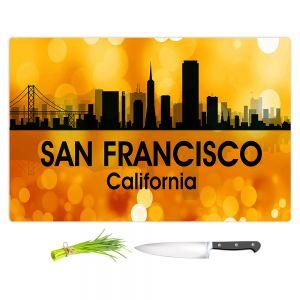 Artistic Kitchen Bar Cutting Boards | Angelina Vick - City lll San Franscisco California