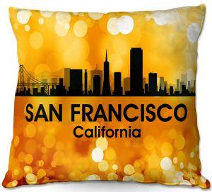 Throw Pillows Decorative Artistic   Angelina Vick - City lll San Franscisco California