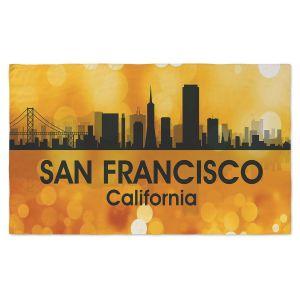 Artistic Pashmina Scarf | Angelina Vick - City III San Francisco California | Skyline Downtown