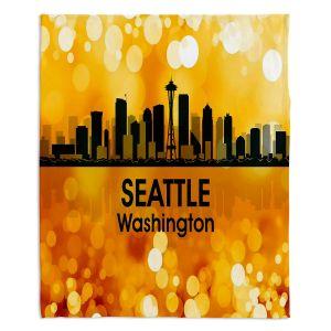 Decorative Fleece Throw Blankets | Angelina Vick - City lll Seattle Washington