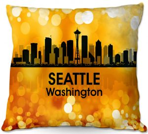 Throw Pillows Decorative Artistic | Angelina Vick - City lll Seattle Washington