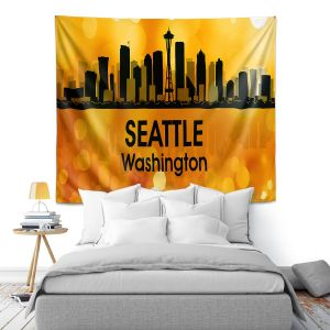 Artistic Wall Tapestry | Angelina Vick - City lll Seattle Washington