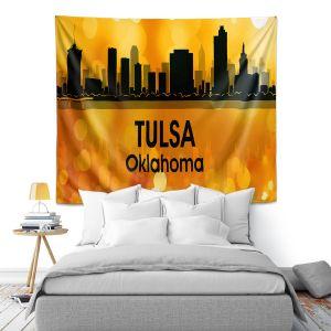 Artistic Wall Tapestry | Angelina Vick - City lll Tulsa Oklahoma