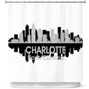 Unique Shower Curtain from DiaNoche Designs by Angelina Vick - City IV Charlotte North Carolina