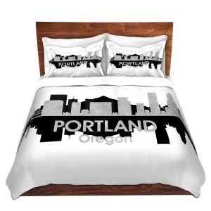 Artistic Duvet Covers and Shams Bedding   Angelina Vick - City IV Portland Oregon