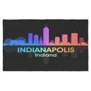 Artistic Pashmina Scarf | Angelina Vick - City V Indianapolis Indiana | Skyline Downtown Indianapolis