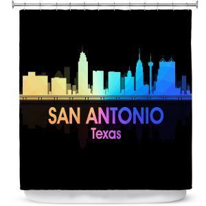 Premium Shower Curtains | Angelina Vick - City V San Antonio Texas