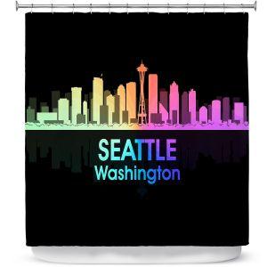 Premium Shower Curtains | Angelina Vick - City V Seattle Washington