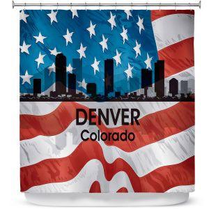 Premium Shower Curtains | Angelina Vick - City VI Denver Colorado