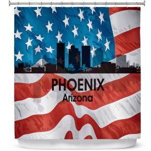 Premium Shower Curtains | Angelina Vick - City VI Phoenix Arizona