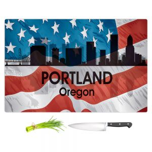 Artistic Kitchen Bar Cutting Boards | Angelina Vick - City VI Portland Oregon