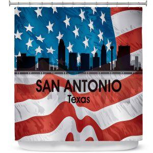 Premium Shower Curtains | Angelina Vick - City VI San Antonio Texas