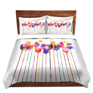 Artistic Duvet Covers and Shams Bedding | Angelina Vick - Cocktail Hour Wine Glasses