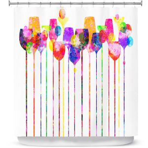 Premium Shower Curtains | Angelina Vick Cocktail Hour