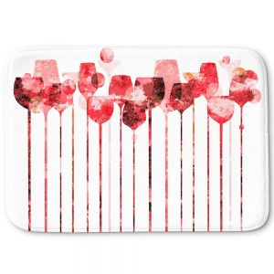 Decorative Bathroom Mats | Angelina Vick - Cocktail Hour 3 Red | Drinks wine glass simple