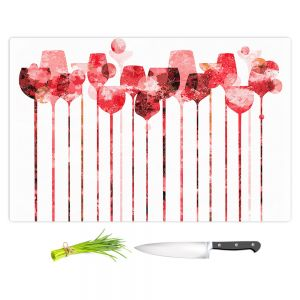 Artistic Kitchen Bar Cutting Boards | Angelina Vick - Cocktail Hour 3 Red | Drinks wine glass simple