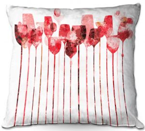 Throw Pillows Decorative Artistic | Angelina Vick - Cocktail Hour 3 Red | Drinks wine glass simple