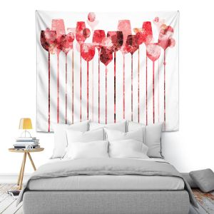 Artistic Wall Tapestry | Angelina Vick - Cocktail Hour 3 Red | Drinks wine glass simple