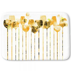 Decorative Bathroom Mats | Angelina Vick - Cocktail Hour 4 Gold | Drinks wine glass simple